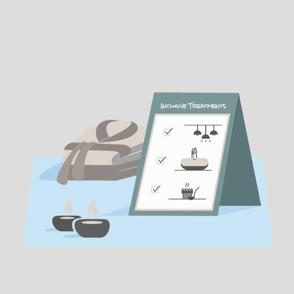 Vektorillustration Wellness